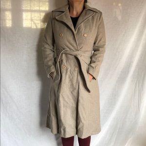 Vintage fully lined Long Wool Pea coat